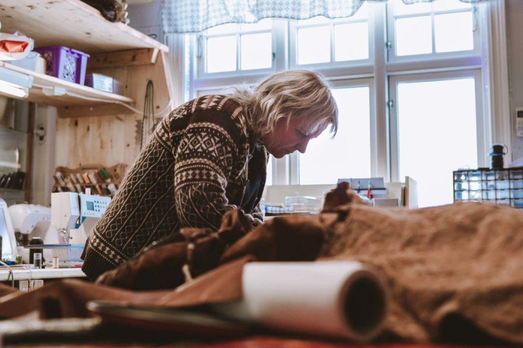 Hilde Lund is one of the women working with Sámi Handicraft, duodji.